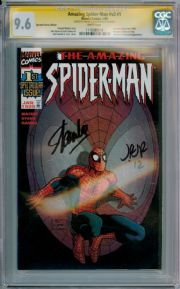 Amazing Spider-man Volume 2 #1 DF Variant CGC 9.6 Signature Series Signed Stan Lee Romita Jr Marvel